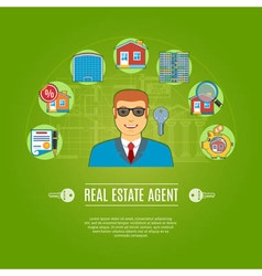 Real estate agent concept vector