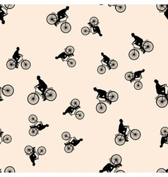 A seamless pattern with the images of people vector