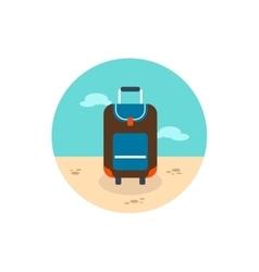 Baggage icon Travel Summer Vacation vector image