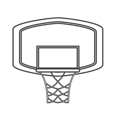 basketball backboard and net icon vector image