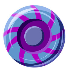 Blue and purple sweet lollipop candie icon vector