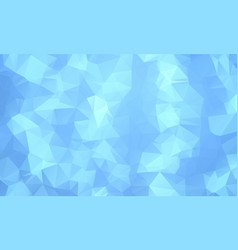 Blue polygonal which consist of triangles vector