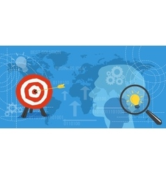 Business concept background with target and lamp vector image vector image