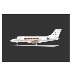 business jet vector image
