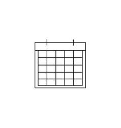 calendar linear icon vector image