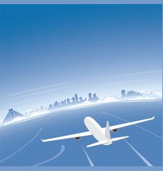 Cancun skyline flight destination vector