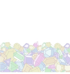 Cartoon doodle gems light background vector