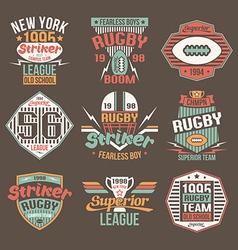 College team american football retro emblems vector