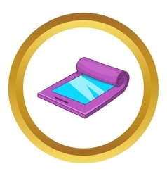 Flexible tablet icon vector