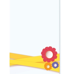 Flowers on ribbon card vector image vector image