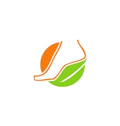 Foot beauty bio ecology medicine logo vector