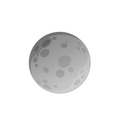 isolated moon made in flat style vector image