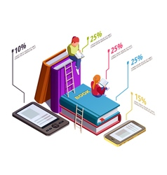 Isometric Reading Infographic vector image