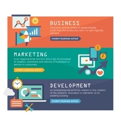 Management digital marketing srartup planning vector image