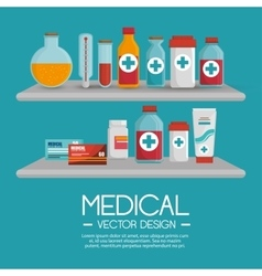 medical collection pharmaceutical products vector image