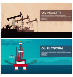 oil platform sea tower oil exploration vector image