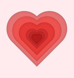 paper art of love vector image