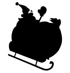 Santa Claus cartoon silhouette vector image vector image