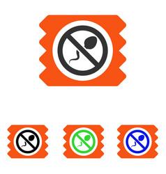 Spermicide condom flat icon vector