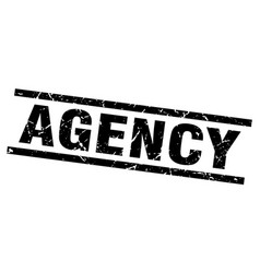 Square grunge black agency stamp vector