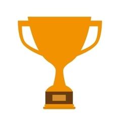 trophy cup winner vector image vector image
