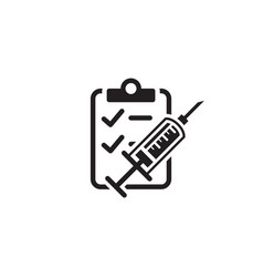 vaccination and medical services icon flat design vector image