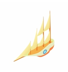 Big yacht icon cartoon style vector