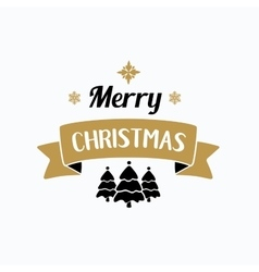 Merry christmas lettering typography handwriting vector
