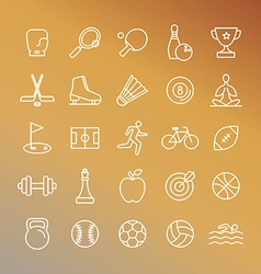 Sport linear icons vector