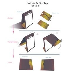 Folder and display vector