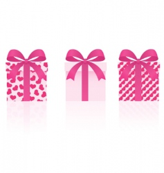 vector gifts set vector image