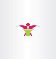 Parent and child icon design vector
