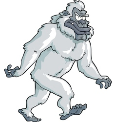 White bigfoot vector