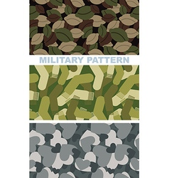 Set of military camouflage texture army pattern of vector