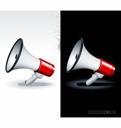 megaphone vector image