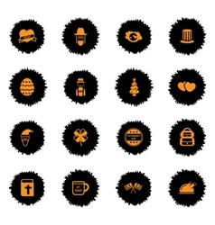 Holidays simply icons vector