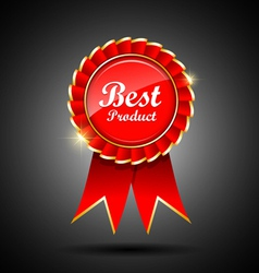 Best product label and ribbons vector image