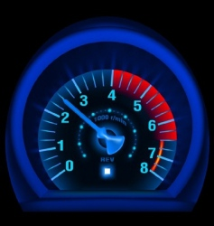 speedometer panel vector image