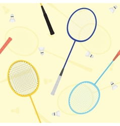 Badminton seamless pattern vector image vector image