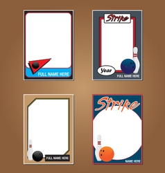 Bowling Cards vector image