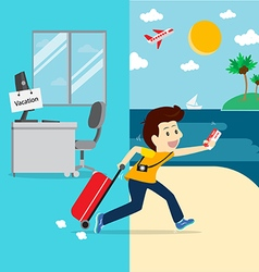 Business going vacation vector image vector image