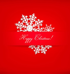 Christmas postcard with snowflakes vector