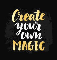 create your own magic poster vector image vector image