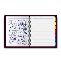 Creative notebook idea vector image vector image
