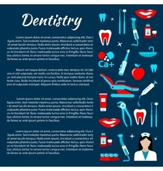 Dentistry infographics with dental care icons vector image vector image