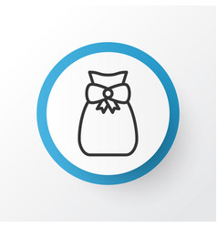 Gift sack icon symbol premium quality isolated vector