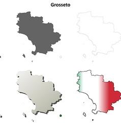 Grosseto blank detailed outline map set Royalty Free Vector