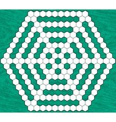Hexagonal crossword vector image