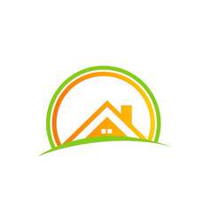 House roof abstract business logo vector