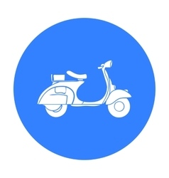 Italian scooter from Italy icon in black style vector image vector image